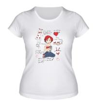 Женская футболка Мысли девушки
