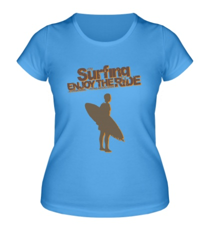 Женская футболка Surfing enjoy