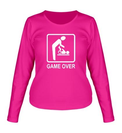 Женский лонгслив Game Over