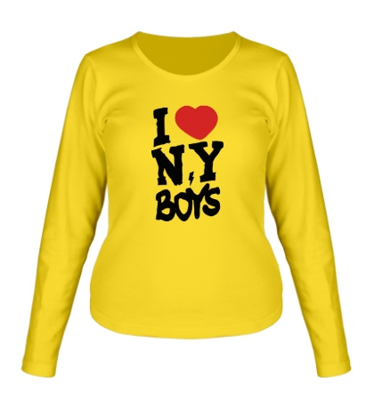 Женский лонгслив I love New York Boys