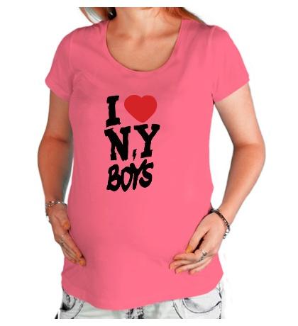 Футболка для беременной I love New York Boys