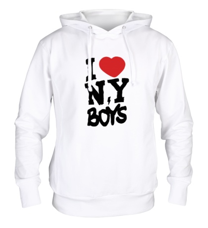 Толстовка с капюшоном I love New York Boys