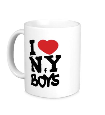 Керамическая кружка I love New York Boys
