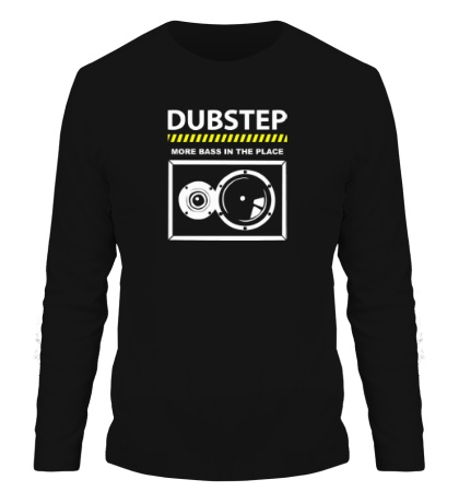 Мужской лонгслив Dubstep More Bass