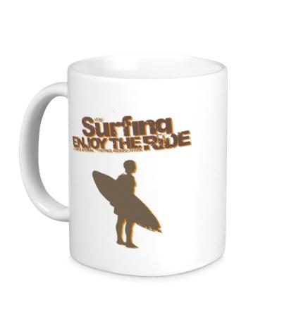 Керамическая кружка Surfing enjoy