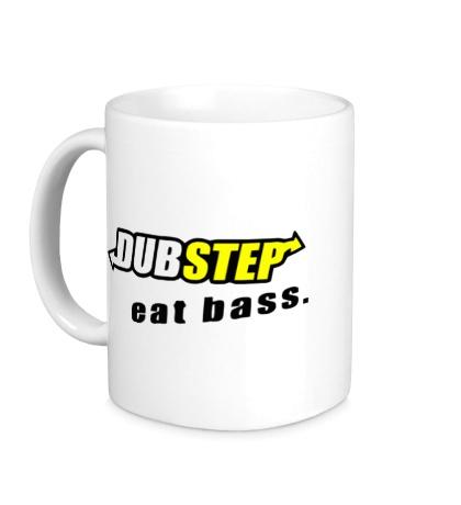 Керамическая кружка Dubstep Eat Bass