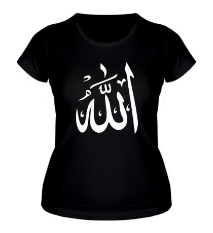 Женская футболка Аллах