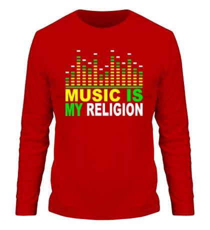 Мужской лонгслив Music is my religion