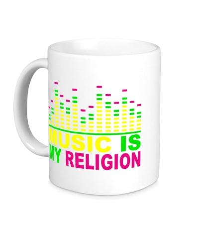Керамическая кружка Music is my religion