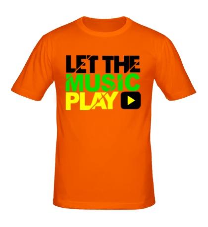 Мужская футболка Let the music play