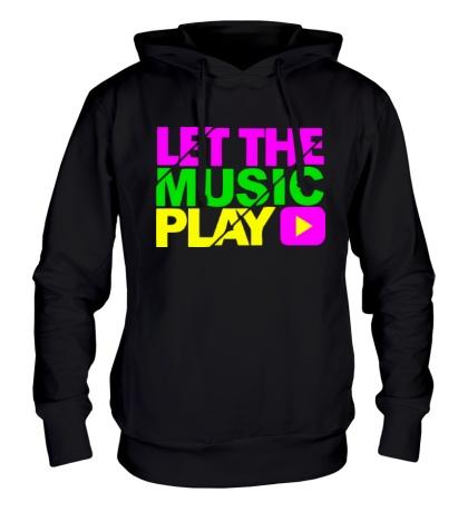 Толстовка с капюшоном Let the music play