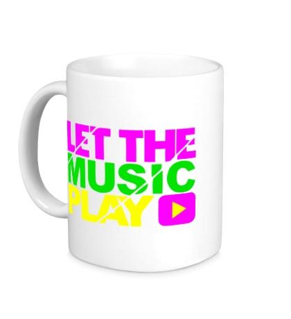 Керамическая кружка Let the music play