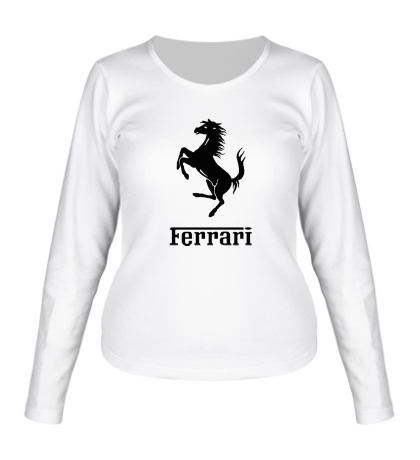 Женский лонгслив Ferrari Logo