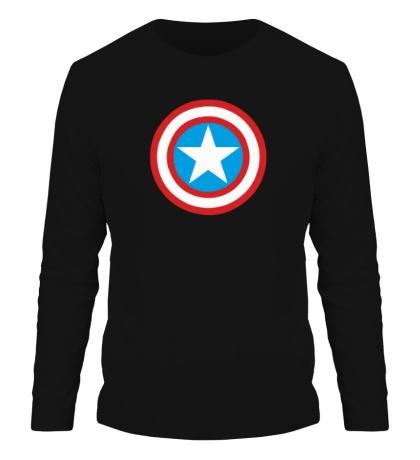 Мужской лонгслив Капитан Америка