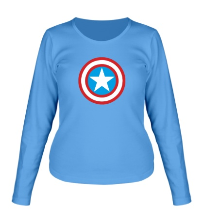 Женский лонгслив Капитан Америка