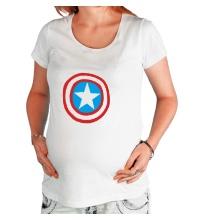 Футболка для беременной Капитан Америка