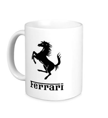 Керамическая кружка Ferrari Logo