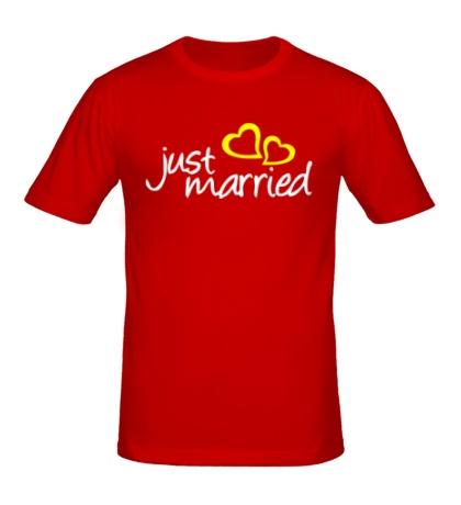 Мужская футболка Hot Just Married