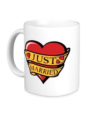 Керамическая кружка Just Married