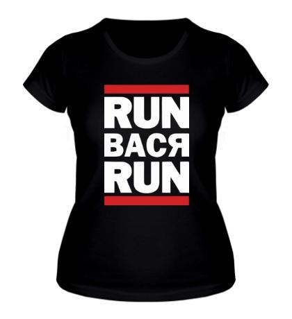 Женская футболка Run Вася Run