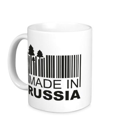 Керамическая кружка Made in Russia: Barcode