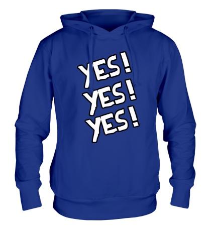 Толстовка с капюшоном Yes! Yes! Yes!