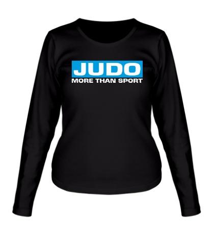 Женский лонгслив Judo more then sport