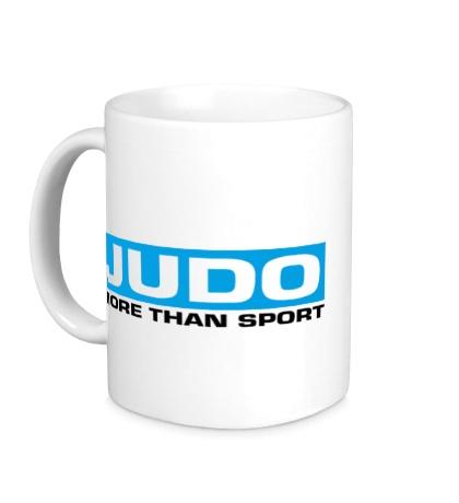 Керамическая кружка Judo more then sport