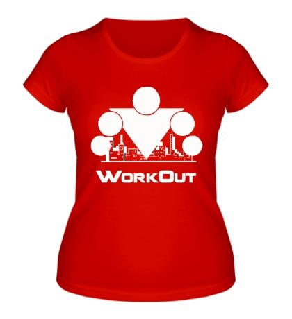 Женская футболка Workout City