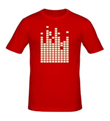 Мужская футболка Светящийся эквалайзер