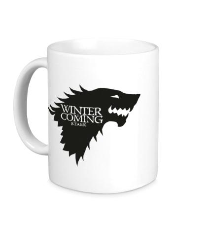 Керамическая кружка Winter is Coming: Team Stark