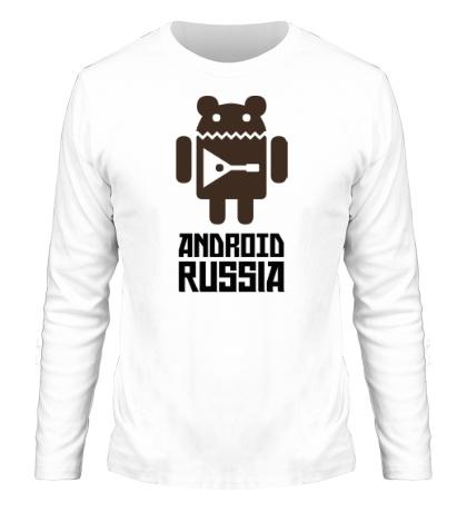 Мужской лонгслив Android Russia