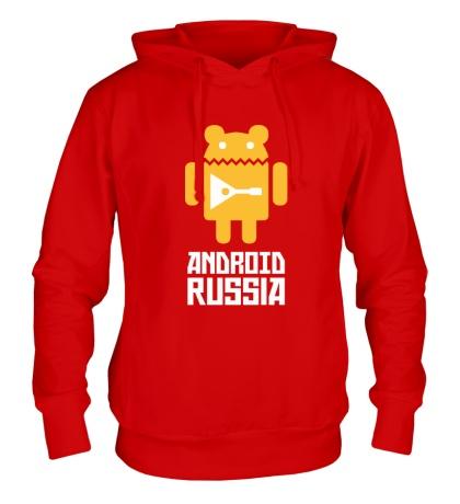 Толстовка с капюшоном Android Russia