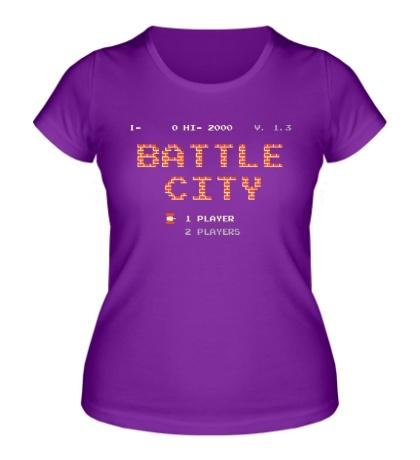 Женская футболка Battle City Glow