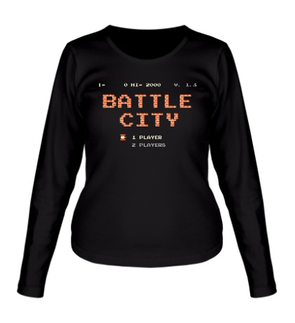 Женский лонгслив Battle City Glow