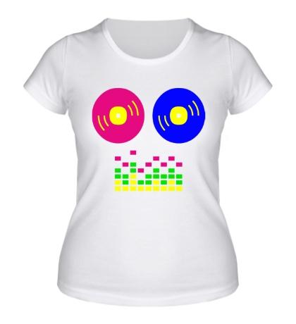 Женская футболка «DJ Equalizer»