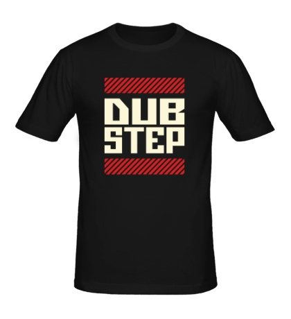 Мужская футболка DubStep Glow Line