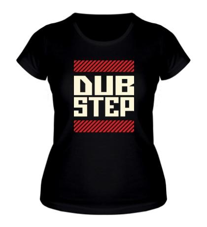 Женская футболка DubStep Glow Line