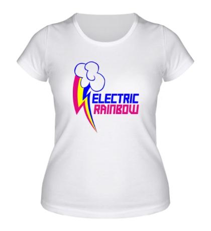 Женская футболка Electric Rainbow