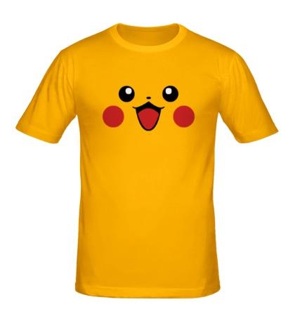 Мужская футболка Лицо Пикачу