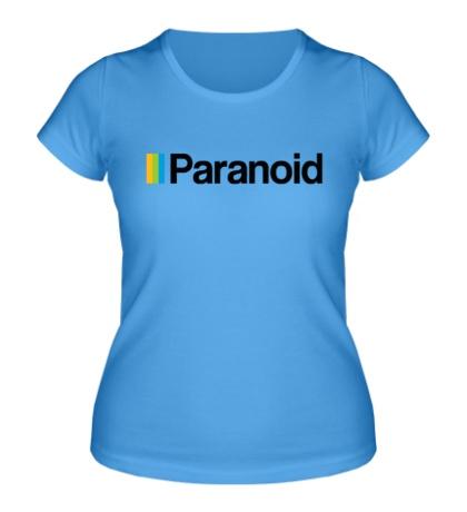 Женская футболка Paranoid