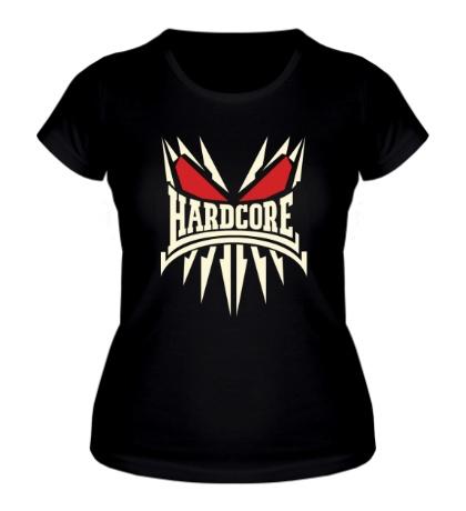 Женская футболка Skeleton Hardcore