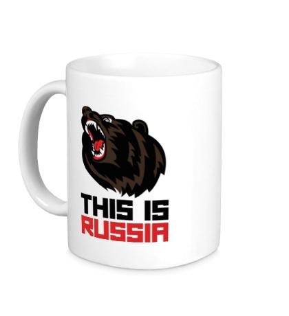 Керамическая кружка Bear: This is Russia