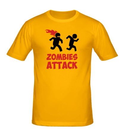 Мужская футболка Zombies Attack