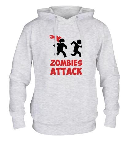 Толстовка с капюшоном Zombies Attack