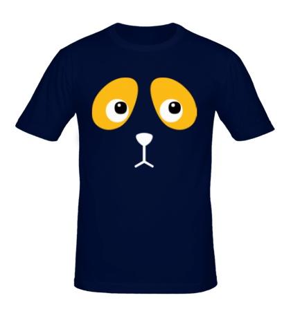 Мужская футболка Грустная собачка