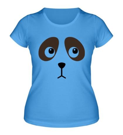 Женская футболка Грустная собачка