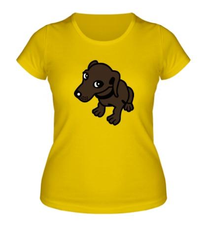 Женская футболка Добрая собачка