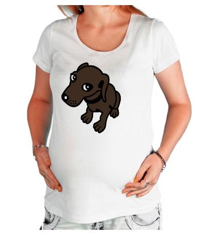 Футболка для беременной Добрая собачка