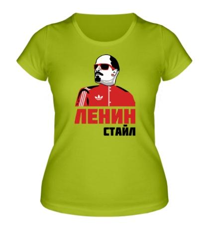 Женская футболка Ленин стайл
